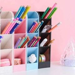 플라스틱 펜꽂이 연필꽂이 다용도 펜트레이 - 6가지 색상