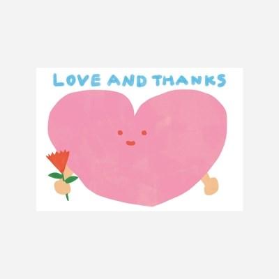 love & thanks 엽서
