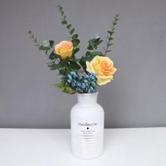 다비안 레터링 꽃병 빈티지 감성화병(화이트)