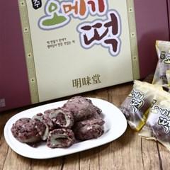 제주오메기떡 60g x 40개/명절선물/찰떡/아침식사/개별