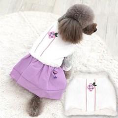 패리스독 한복 누빔배자 핑크 애견 명절옷