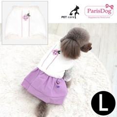 패리스독 한복 누빔배자 핑크 L