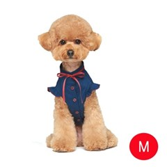강아지 메리미 블라우스 네이비 M