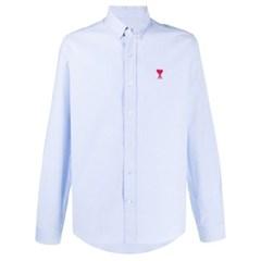 21SS 아미 남성 스몰 하트 로고 옥스포드 셔츠 블루 BFHC01345454