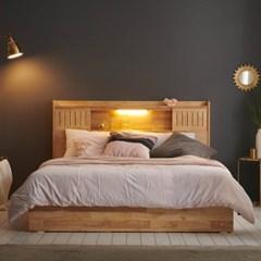 잉글랜더 미뉴엣 LED 원목 수납 침대(DH 7존 독립매트-Q_(13065783)