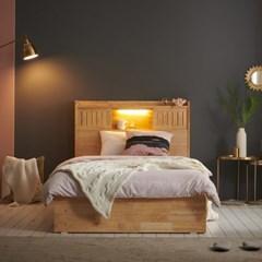 잉글랜더 미뉴엣 LED 원목 수납 침대(NEW E호텔 양모 라_(13065773)