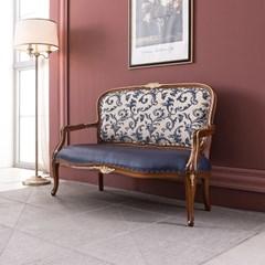 수입 엔틱가구 TR 25 리버티 2인 블루 소파 겸용 의자