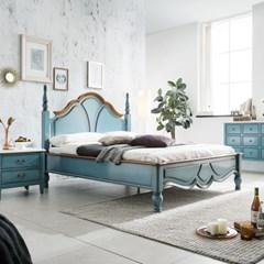 수입 엔틱가구 RG 28 블루 퀸 침대 프레임