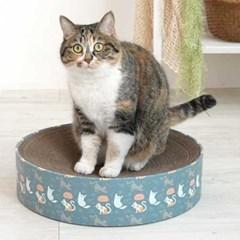 블루냥냥펀치 고양이 원형 스크래쳐_(764514)