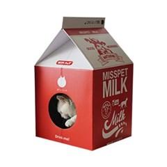 밀크팩 스크레쳐 고양이 하우스 (딸기우유)_(764487)