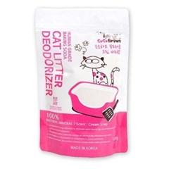 고양이 모래 탈취제 코코브라운 크림비누향 500g_(764550)