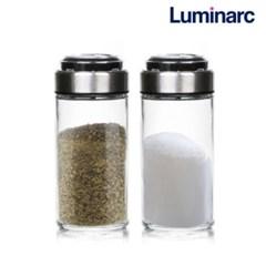 유리양념병 90ML 2P세트 깨소금통 고추가루 소금 보관_(625207)