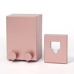 스마트 와이어 빨랫줄 공간활용 스텐빨래줄 (핑크)