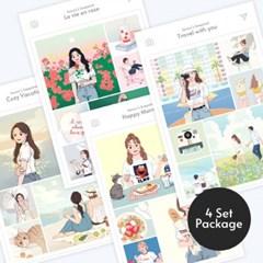 사각 스티커 4종세트상품 텐바이텐 입점기념 행사