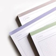 [Simple Grid natural memo pad] B5 네츄럴 모눈패드