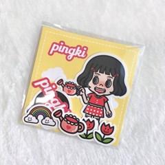 튤립 핑키 조각스티커