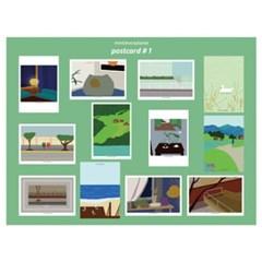 민트초코별 인테리어그림 A6 일러스트 엽서 12종 세트