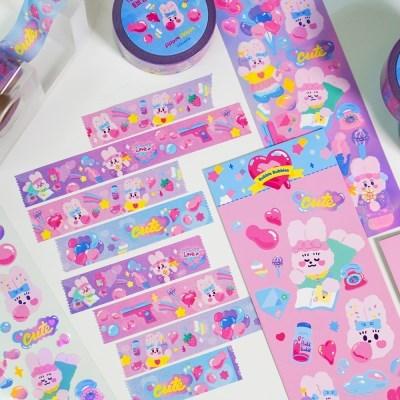 토비 핑크버블 마스킹 테이프