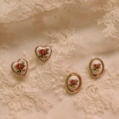 [봄밤달] 빈티지 로즈가든 귀걸이