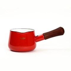 에지리 글래이지팟 컬러 법랑냄비 12cm 밀크팬 레드_(1813496)