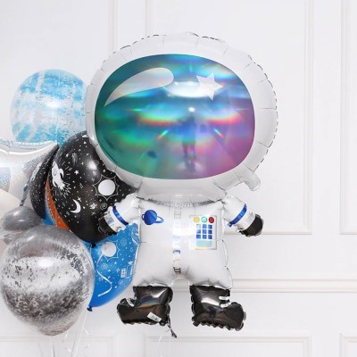 은박 우주비행사 홀로그래팩 슈퍼쉐입