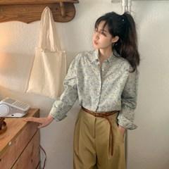 가든 플라워코튼셔츠 (2color)