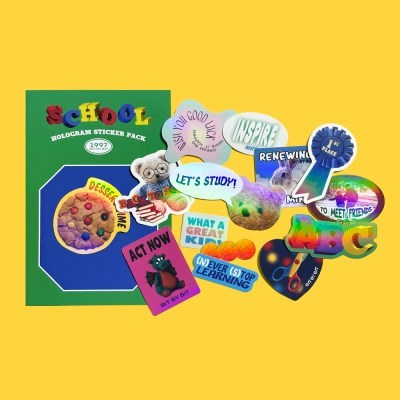 School Hologram Sticker Pack