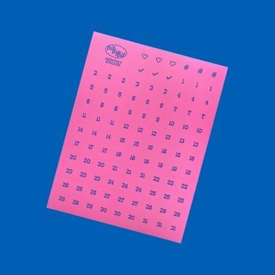 Monthly Sticker_Pink