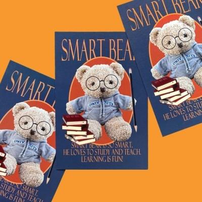 Smart Bear Postcard