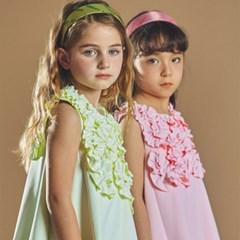 퍼키 버블팝 원피스 여아 아동 키즈 셔링 리본 드레스
