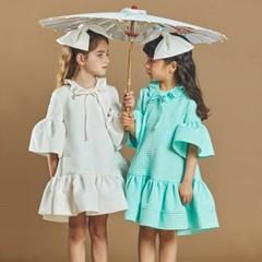퍼키 도트릴리 원피스 여아 아동 키즈 셔링 리본 드레스