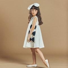 퍼키 블랙모던 리본 원피스 여아 아동 키즈 셔링 드레스