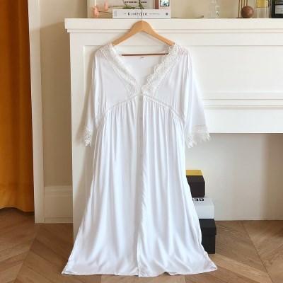 블랑쉬 레이온 원피스 잠옷 파자마 홈드레스 슬립