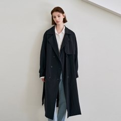 EVER TRENCH LONG COAT_NAVY