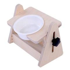 강아지 고양이 각도조절 식기 테이블 세라믹 1구