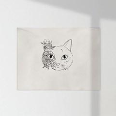 인테리어 패브릭 포스터_고양이