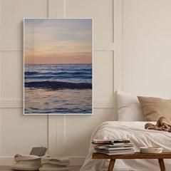 바다 풍경 그림 일러스트 인테리어 포스터 액자_일렁이는바다