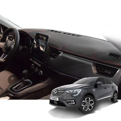 K 르노 XM3 매트 카본 자동차 대쉬보드 커버 DashR02
