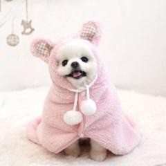 케이프 강아지 망토(핑크색상)_(767014)