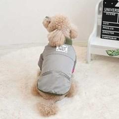 강아지 항공점퍼(카키)_(765900)