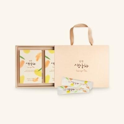 담꽃 국산 생강착즙 생강차 스틱형 선물세트 250gX2개