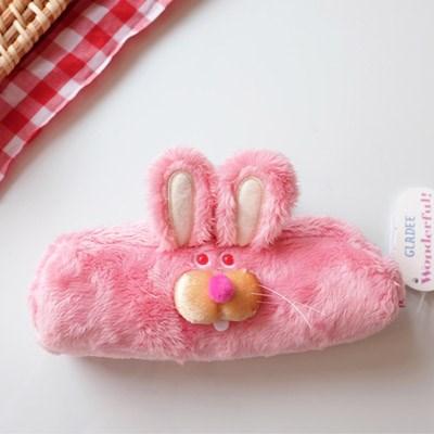 [GLADEE] 그라디 익살스러운 핑크 토끼 필통
