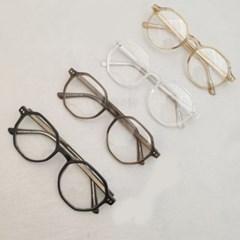 데일리 자외선차단 도수없는 가벼운 투명 패션 안경