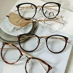 호피 도수없는 투명 가벼운 자외선차단 패션 안경