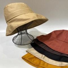 꾸안꾸 데일리 기본 무지 챙넓은 버킷햇 벙거지 모자