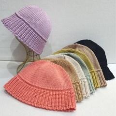 뜨개 숏챙 기본 심플 데일리 버킷햇 벙거지 모자