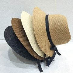 리본끈 와이드 챙넓은 꾸안꾸 버킷햇 벙거지 모자