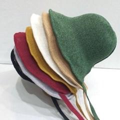 기본 심플 턱끈 챙넓은 보넷 버킷햇 벙거지 모자