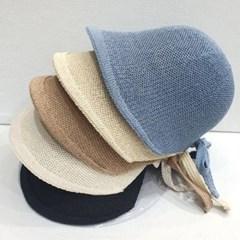 무지 기본 심플 챙넓은 뒷리본 버킷햇 벙거지 모자