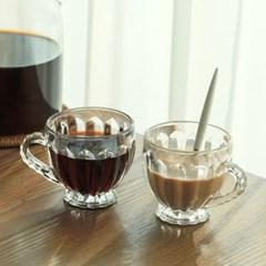 카페테리아 클리어 미니 커피잔 6개1세트